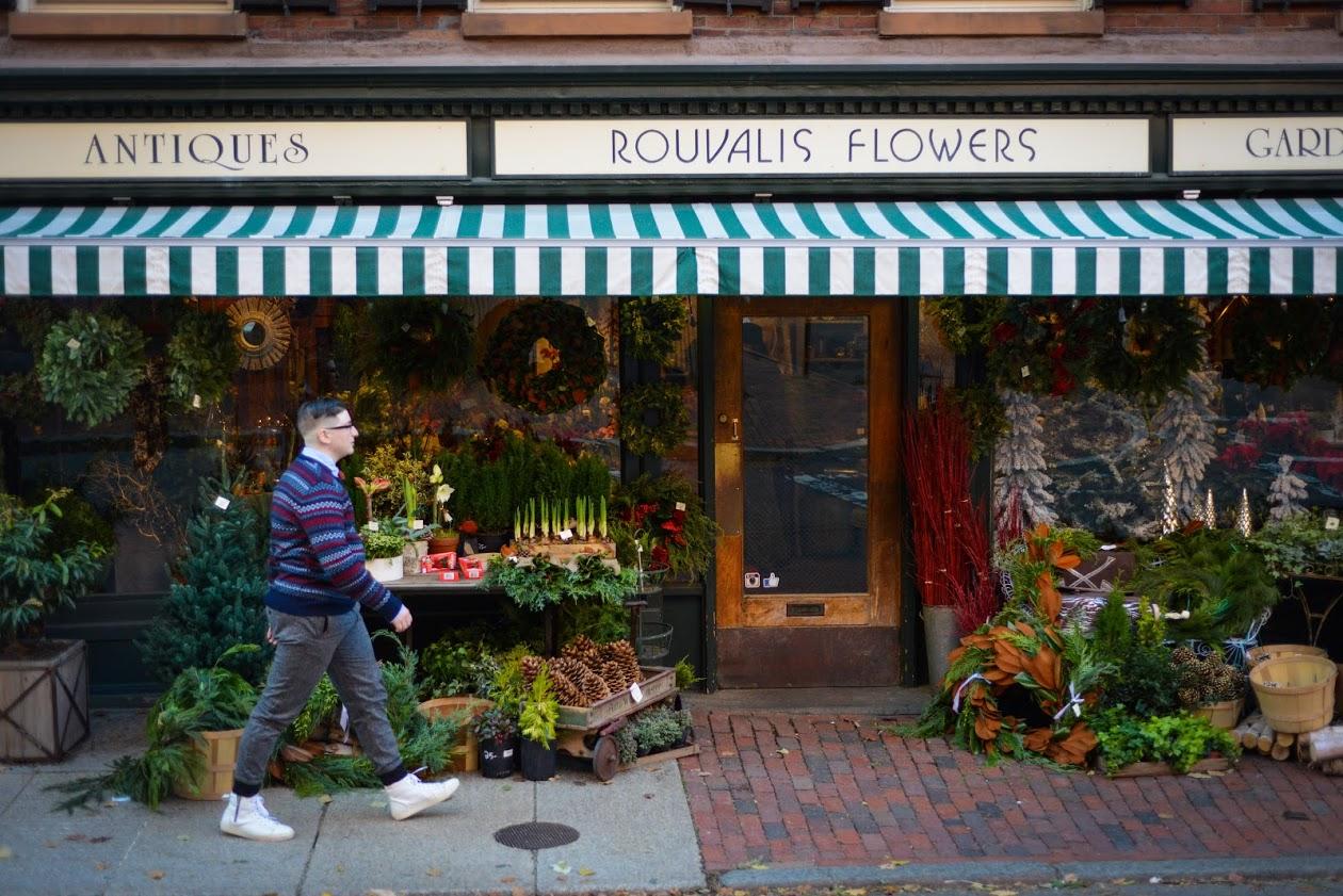 Sonny Oram Holiday Fashion Shoot Flower Shop