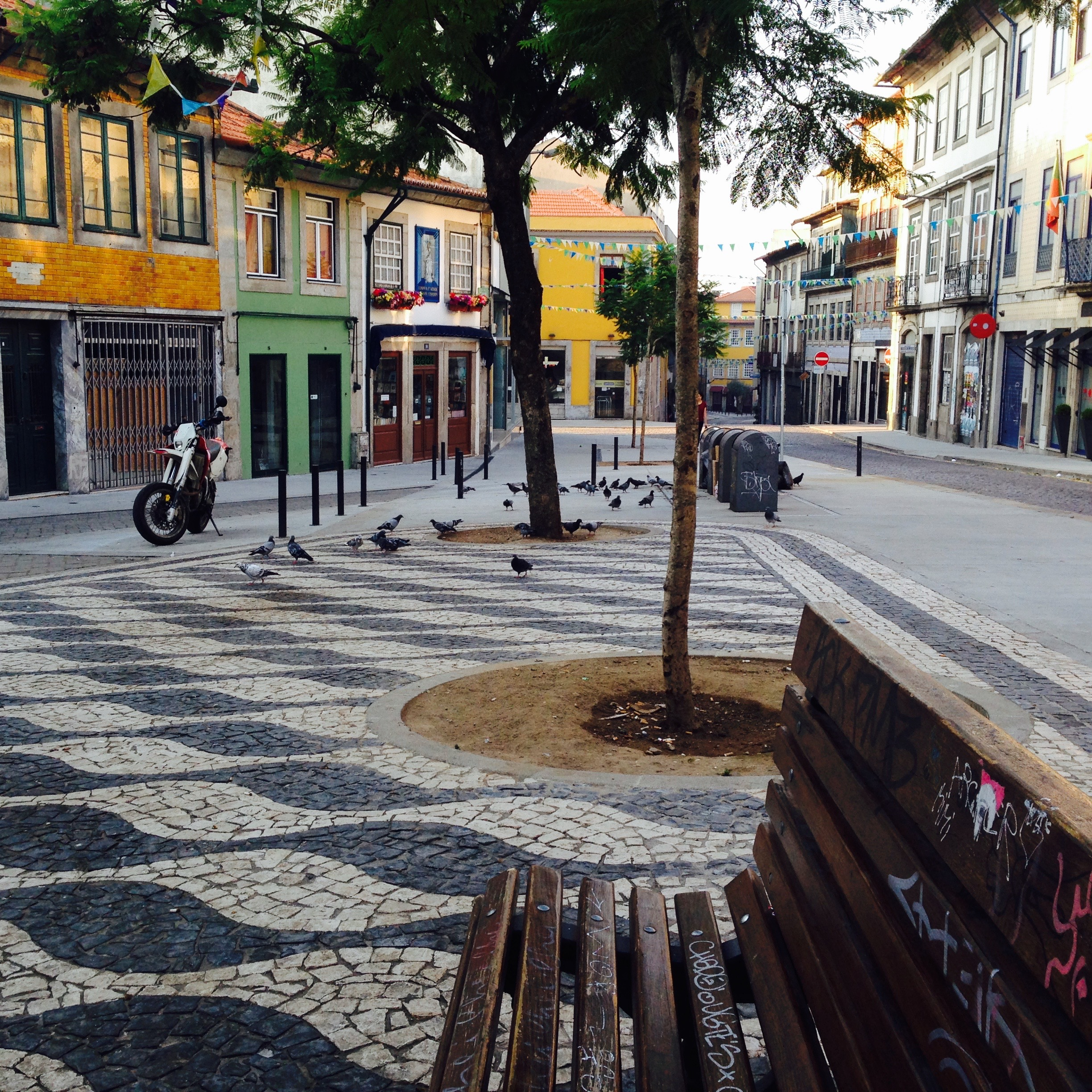 A typical street in Porto, their new adopted home.