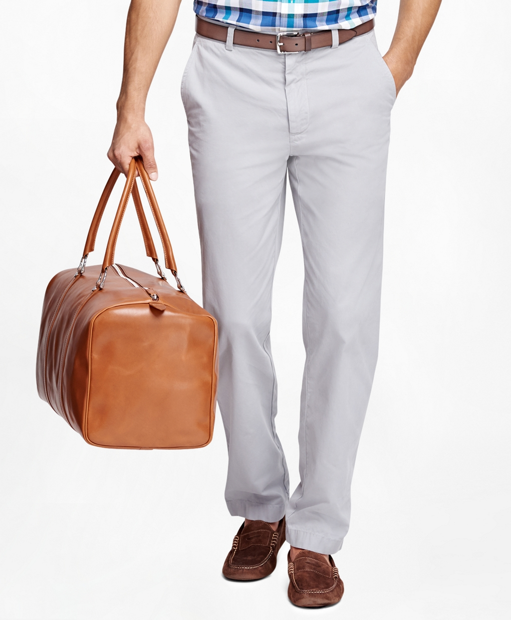Brooks Brothers Clark Fit Garment-Dyed Chinos,$98.50