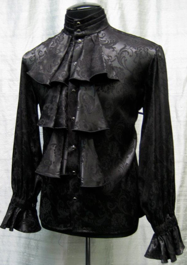 LOUIS XIV SHIRT - BLACK BROCADE $119.00 at  shrinestore.com