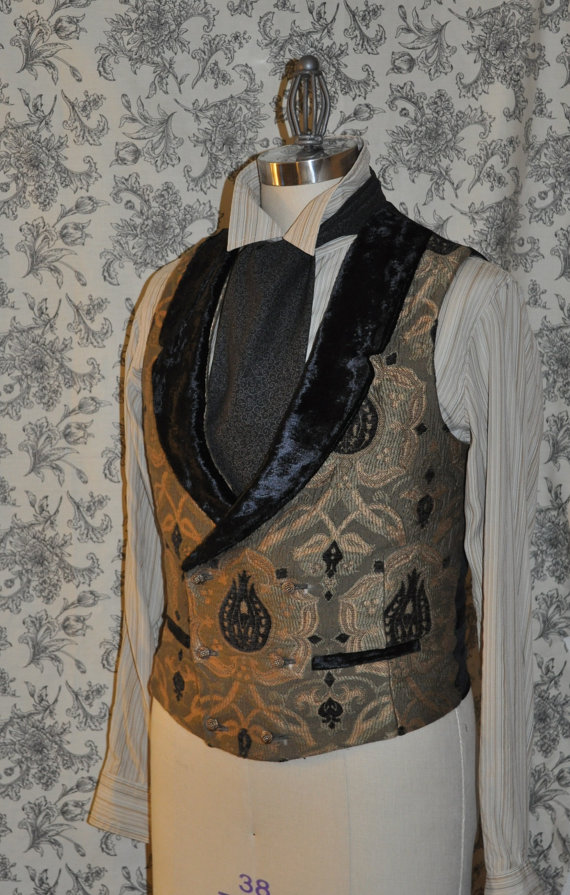 Mens Bespoke Low Cut Vest, $185 on  Etsy