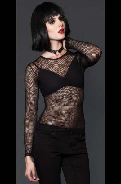 Fishnet Shirt in BLACK by Lip Service, $25.99 at   www.angryyoungandpoor.com