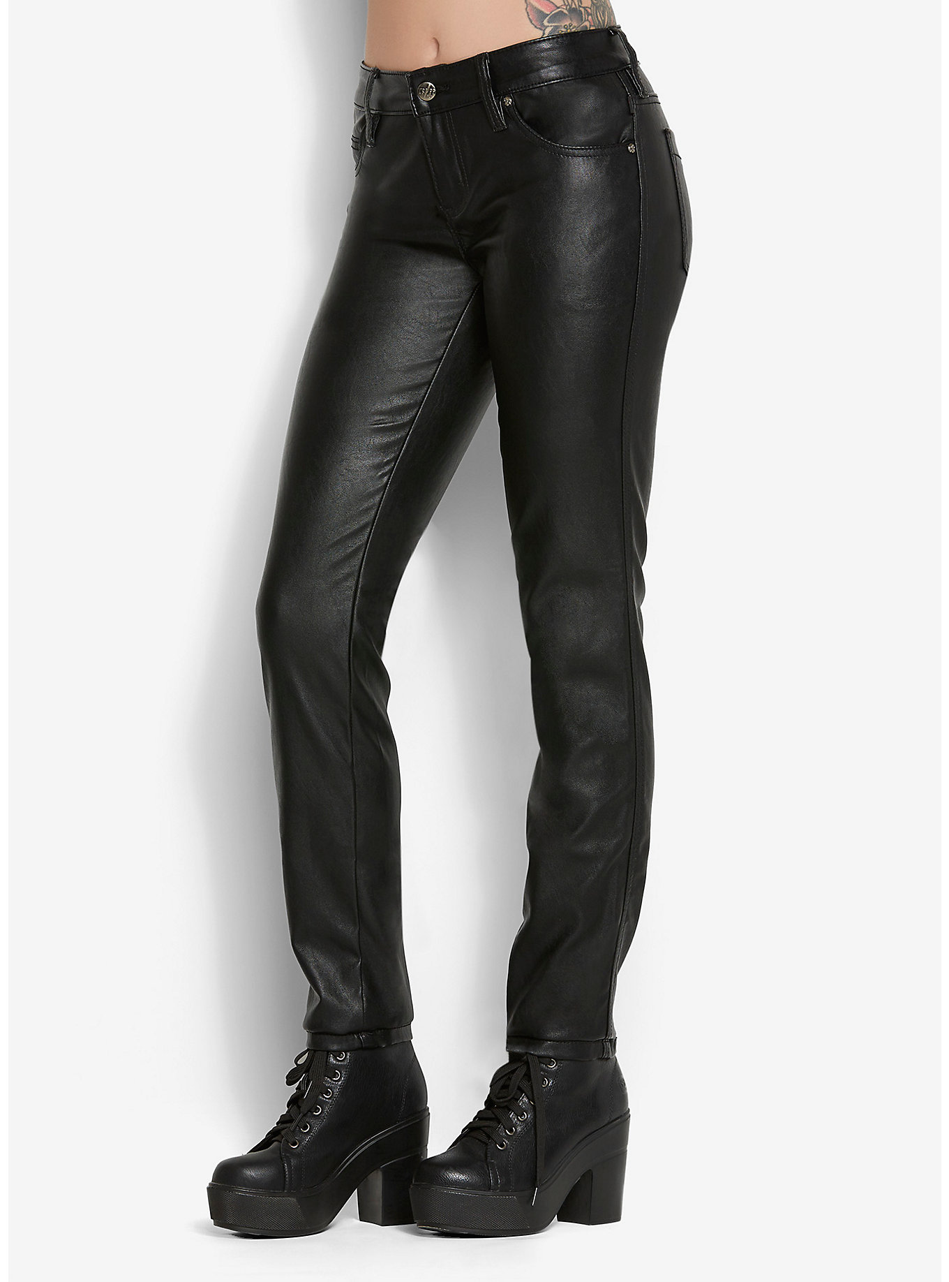 Faux Leather Pants, $51 at  Hot Topic