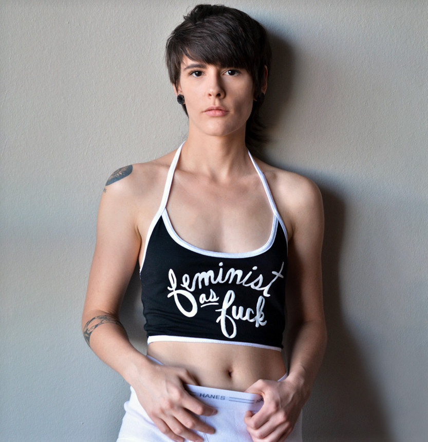 """Feminist as Fuck"" Crop Top"