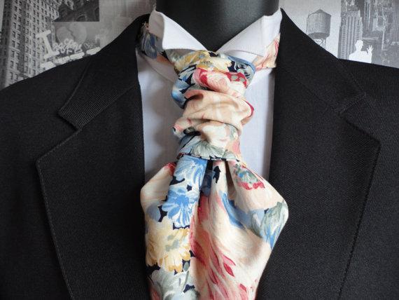 Scrunchy Wedding Cravat by DapperJackUK on Etsy