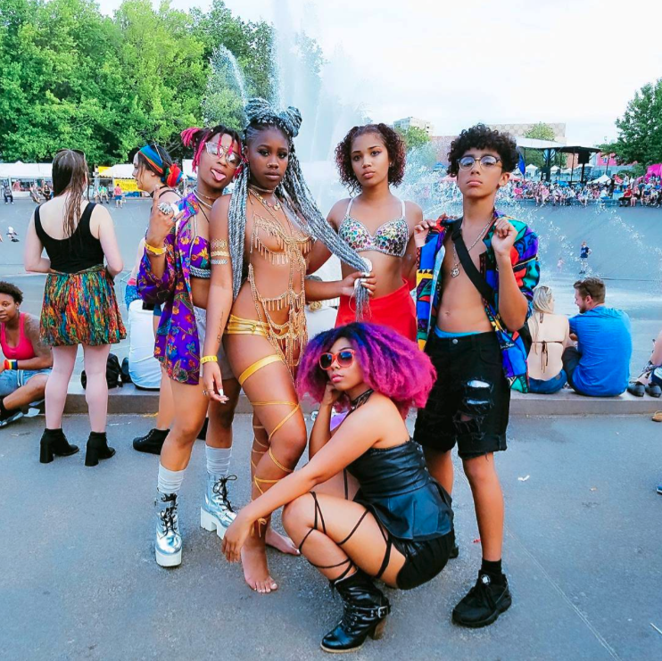 "yoshi.jpg  ""You know we had to do it to em  #BlackMagic   #BlackGirlMagic   #MelininPoppin   #POCPride   #SeattlePride """