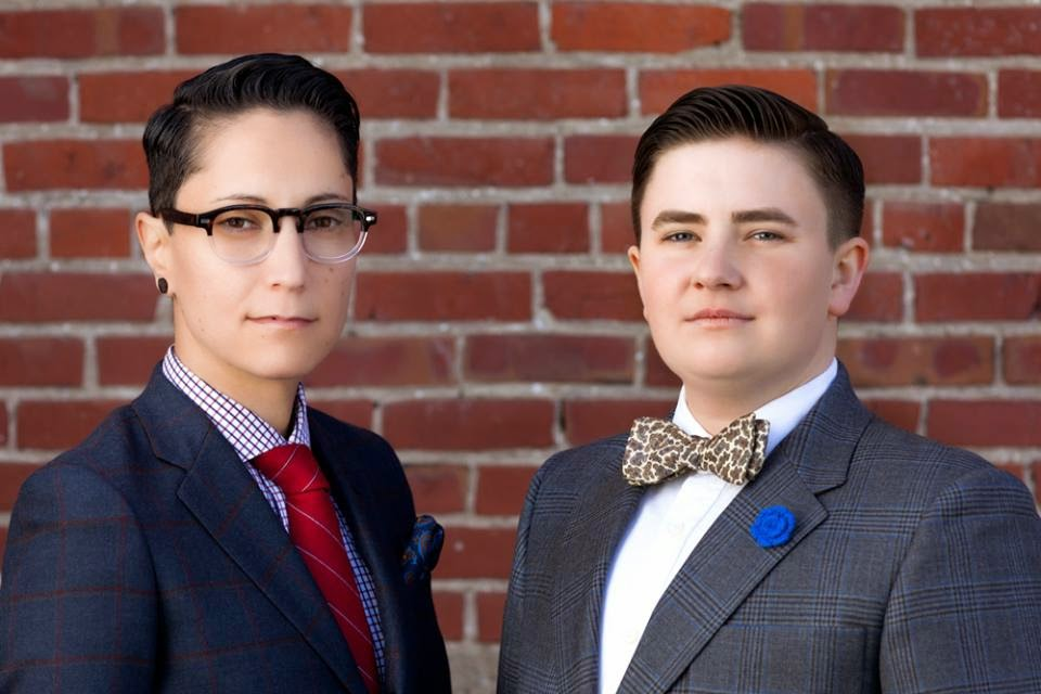 Kyle (left) and Erin (right), Kipper Clothier's founders