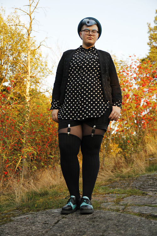 Ree Melanen, From  9 Plus Size Cuties Share Tips For Androgynous Style  / Photo credit: Saara Teinilä