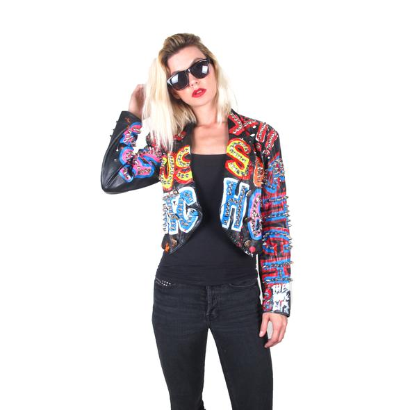 12. Studmuffin NYC - THESEPINKLIPS X STUDMUFFIN 'BOSS BITCH' Leather Tuxedo Jacket – $800.00