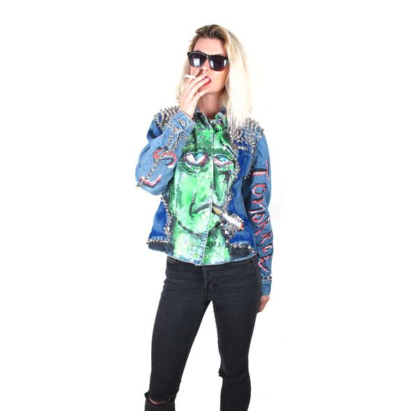 "Scooter LaForge X ""I'll quit tomorrow"" Denim Jacket – $800.00"