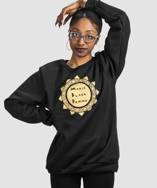 11. Queer Supply - Magic Black Femme Sweatshirt – Black$40.00