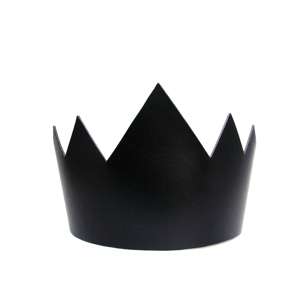 Leather Crown (Tall) - $80