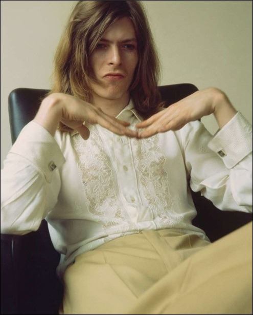 David Bowie, 1971, from the  Hunky Dory  covershoot, by Brian Ward.