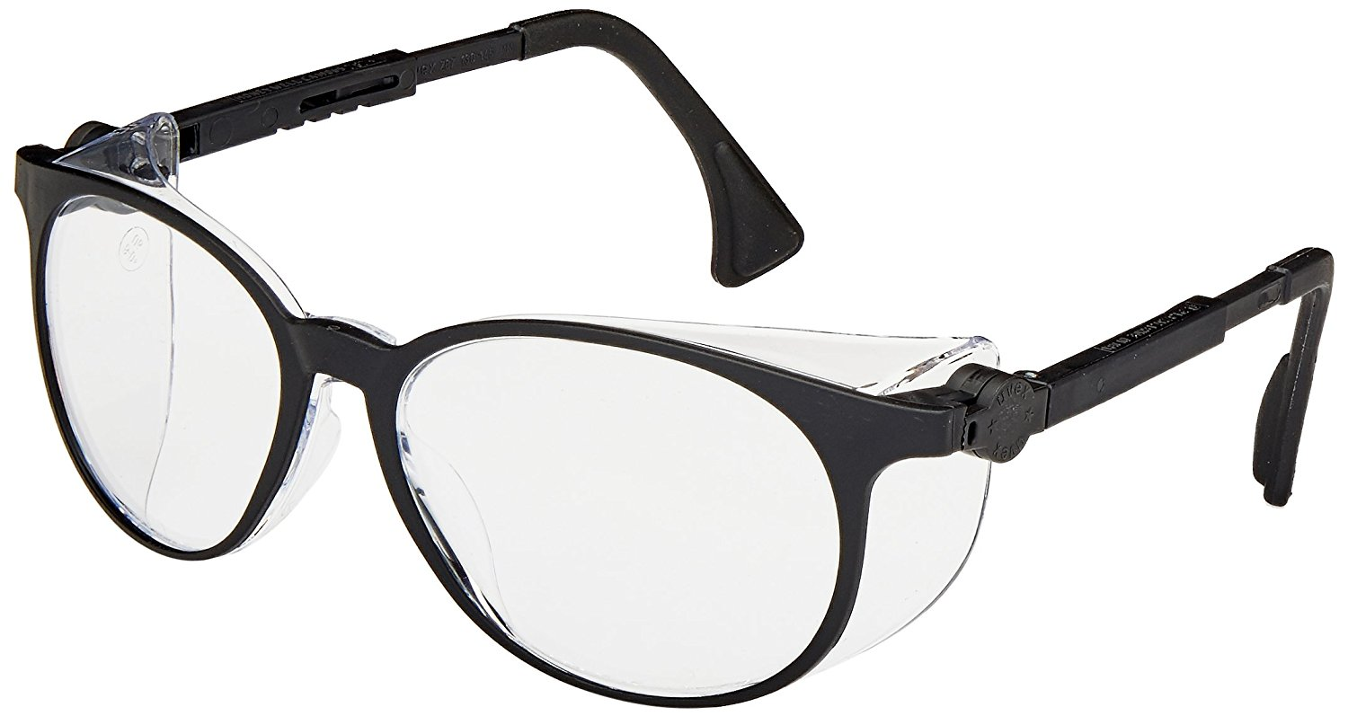 Uvex S4000 Flashback Safety Eyewear, Black Frame, Clear Ultra-Dura Hardcoat Lens, $7.99