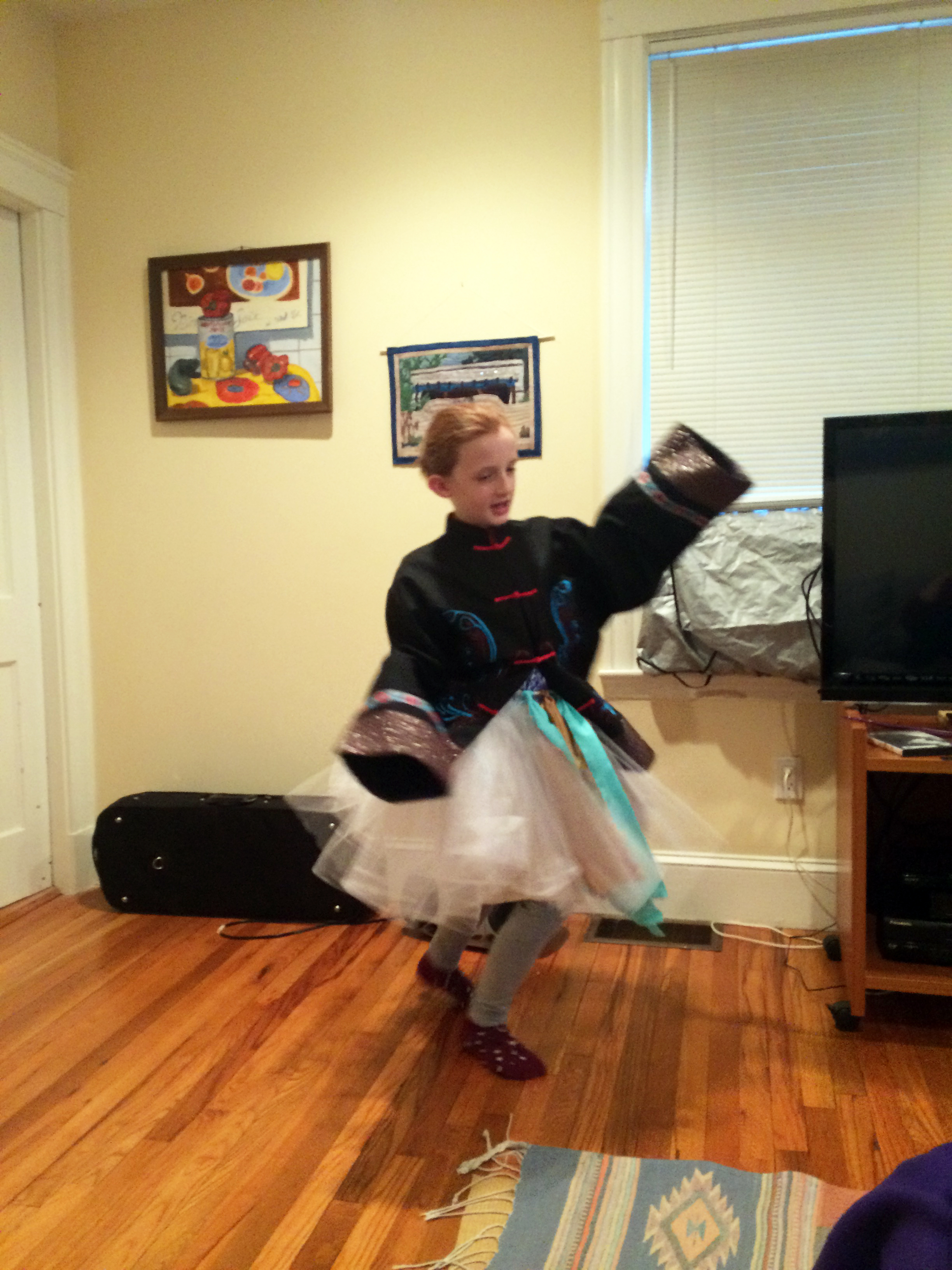 Lia Dancing in experimental outfit