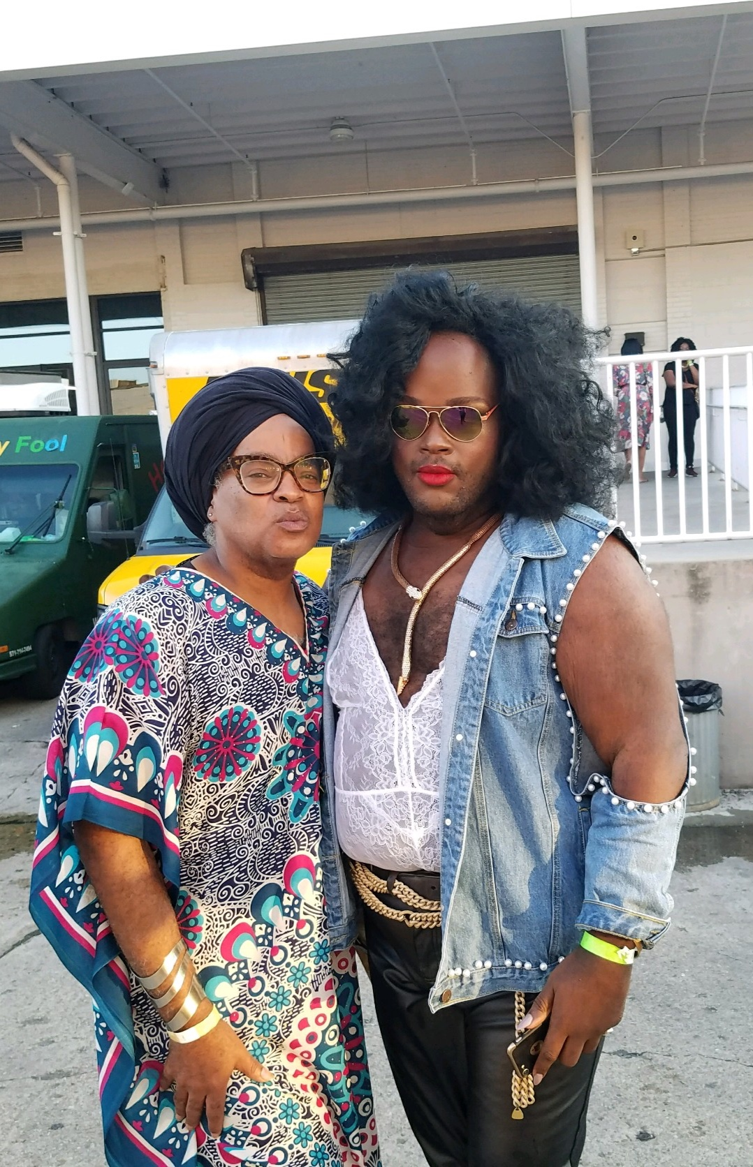 Ms. Rayceen & Blessitt Shawn at HoneyGroove, a festival that celebrates LGBTQ performing artists, visual artists, creatives and entrepreneurs.