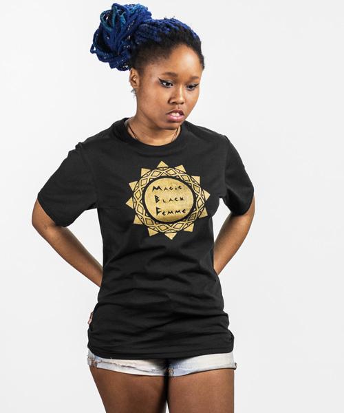 Magic Black Femme T-Shirt $25