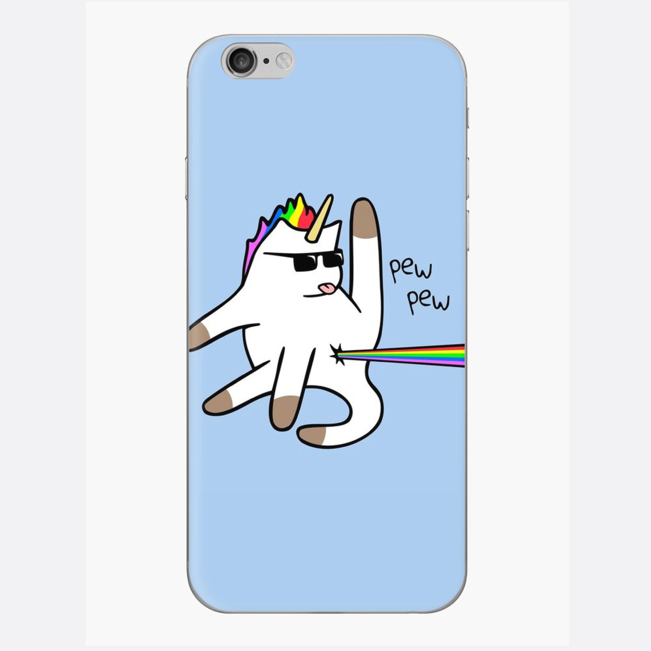 Unicorn Cat Rainbow Butt Laser iPhone Case $15