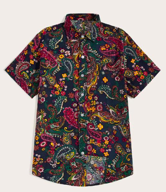 Paisley Button Through Shirt