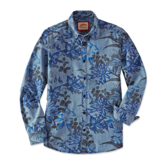 Joe Browns Indigo Floral Shirt