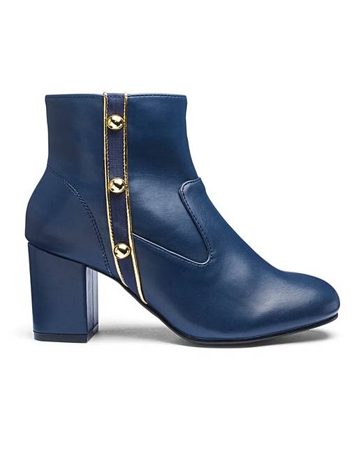 Button Detail Military Ankle Boots