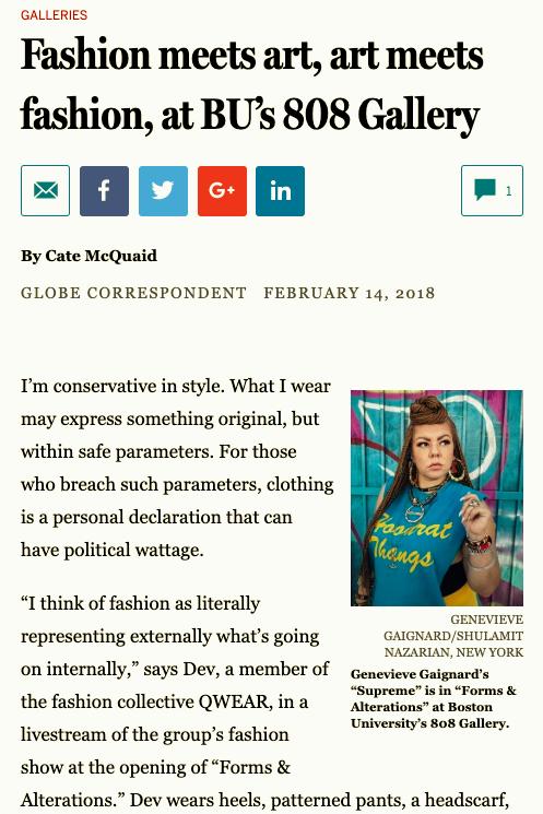 Qwear Boston Globe