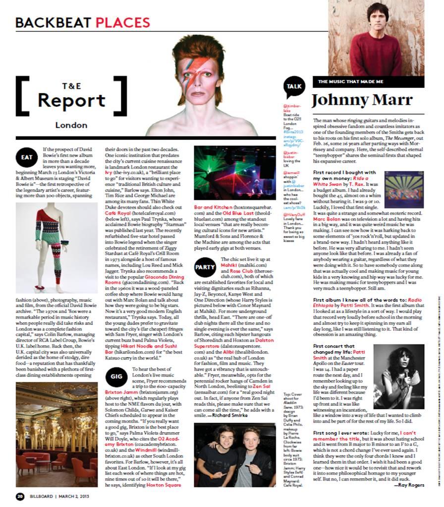 Billboard magazine article