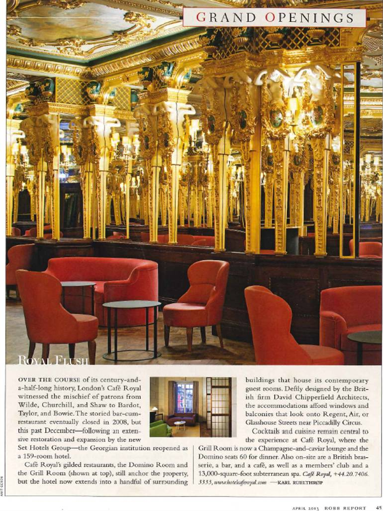 Robb Report article