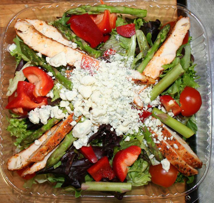 Chicken and Blue Cheese Green Salad.