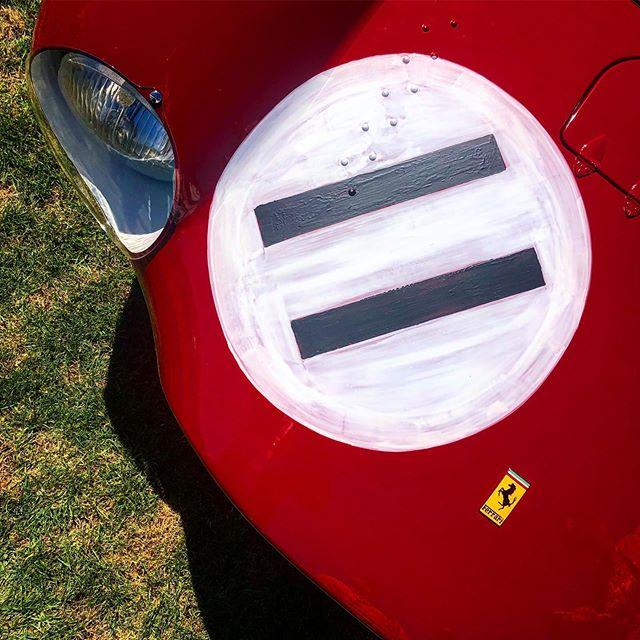 Paint it on and let's go race !!! #hrc #ferrari #pebblebeach #race #concoursdelegance #priceless