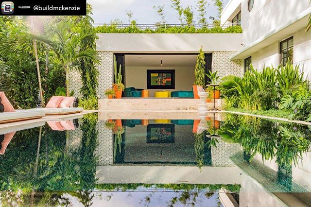 An Art Deco dream we designed and live in @buildmckenzie - Blending indoor and outdoor living space was one of the main focus points in this historic residential renovation on Miami Beach. Designing carefully placed indoor/outdoor connections can produce an exquisite result when it comes to bringing more natural light and fresh air into a space. #indooroutdoorliving Landscape by @ml_studio