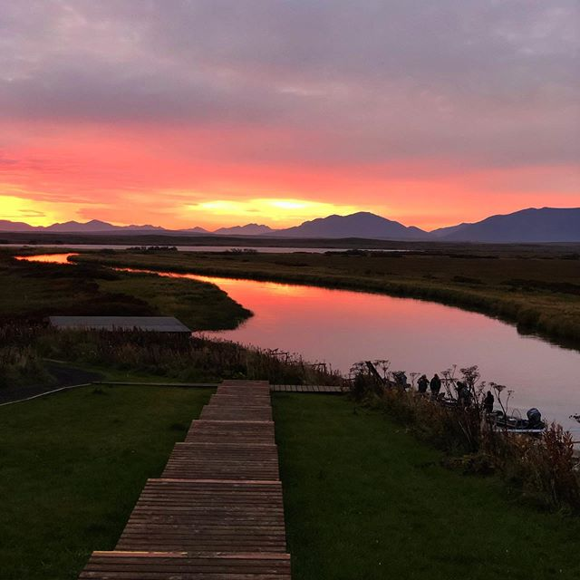 This time last week on the hoodoo river #alaska #fishon #sunrise #riverfishing #salmon