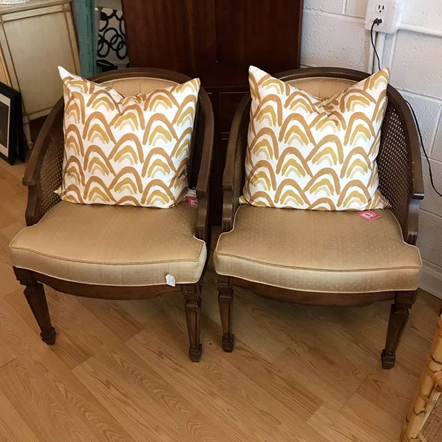 Chairs, $87.50 for the pair (dang!) Pillows, $35 each