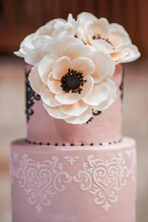 Sugar Anemones in Pale Blush Pink. Image courtesy of Blue Rose Photography.