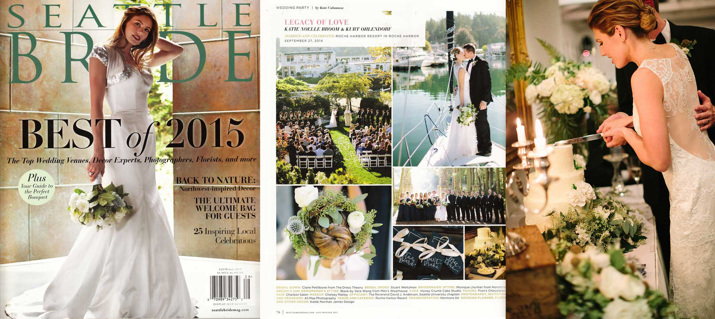 "Seattle Bride, Fall-Winter 2015 (""Real Wedding"" feature)"