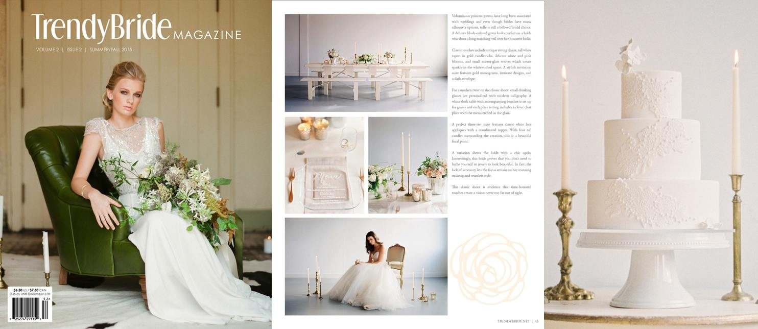 TrendyBride Magazine, Summer-Fall 2015
