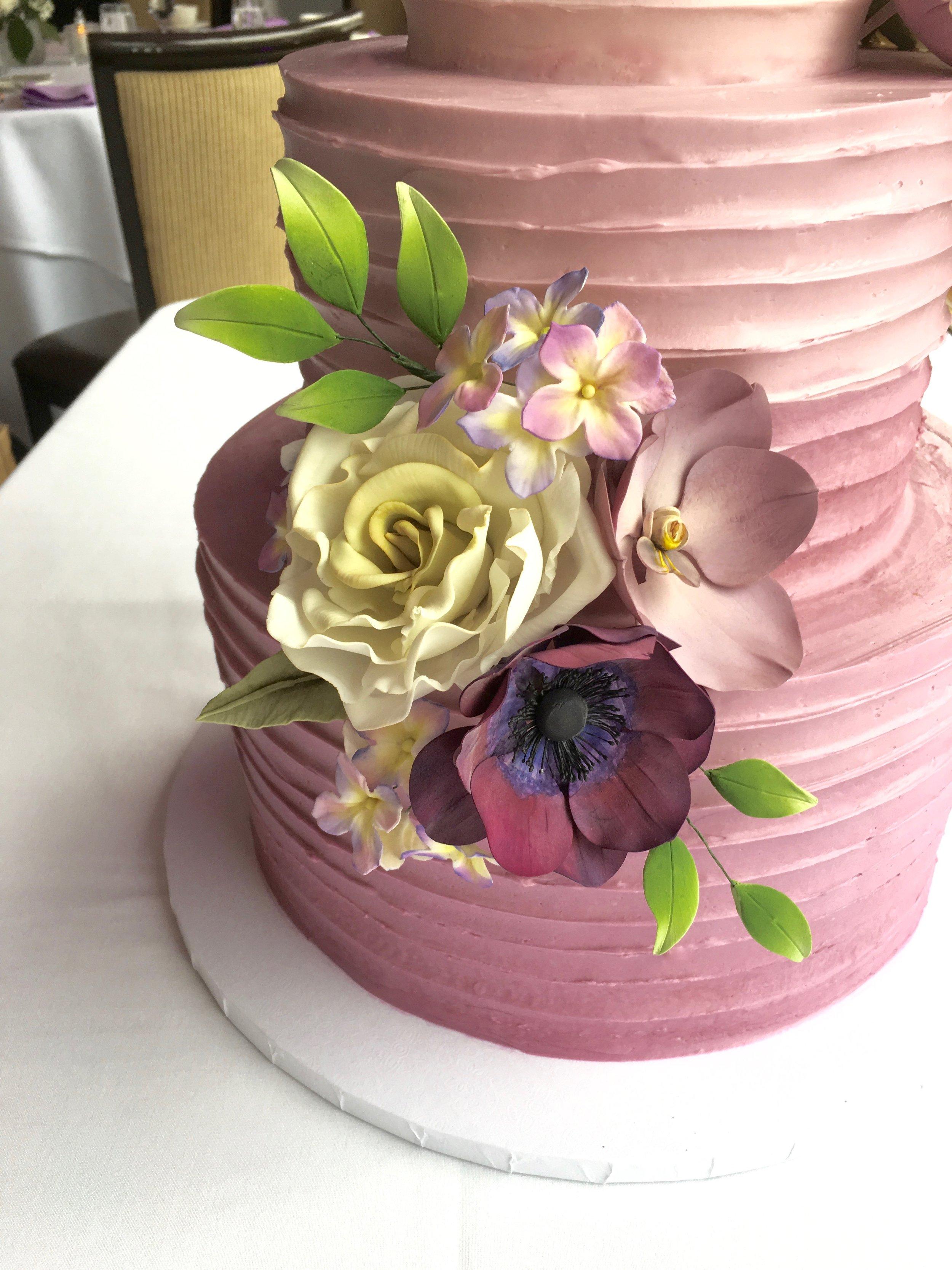 Sugar Vanda Orchid, Rose, Anemone, and Hydrangea. Image copyright Carla Schier.