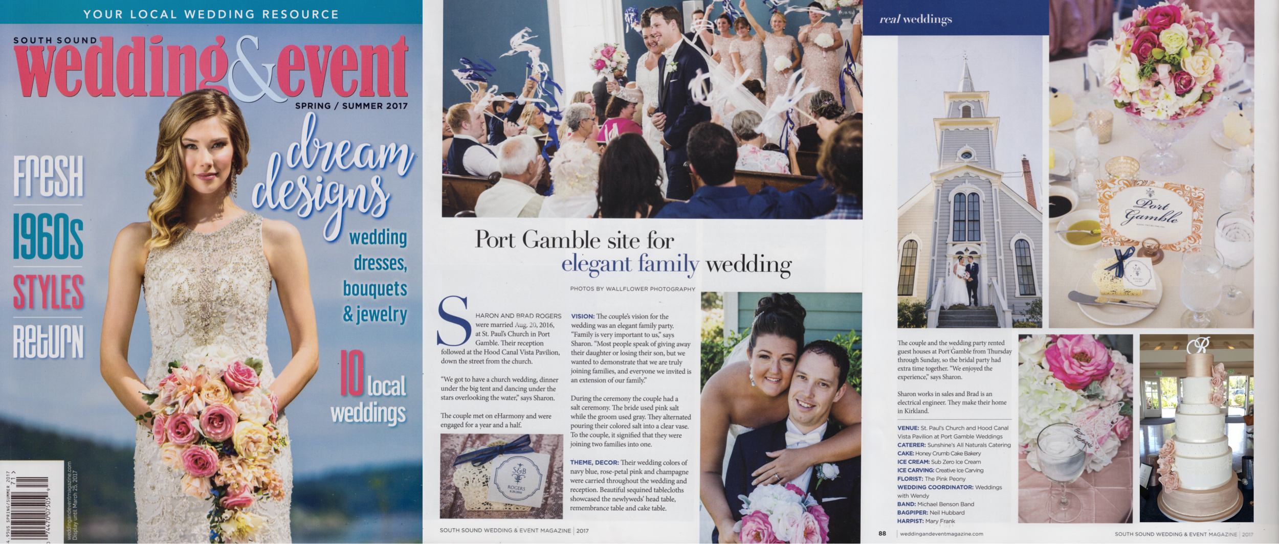 """South Sound Wedding & Event, Spring-Summer 2017 (""""Real Wedding"""" feature)"""