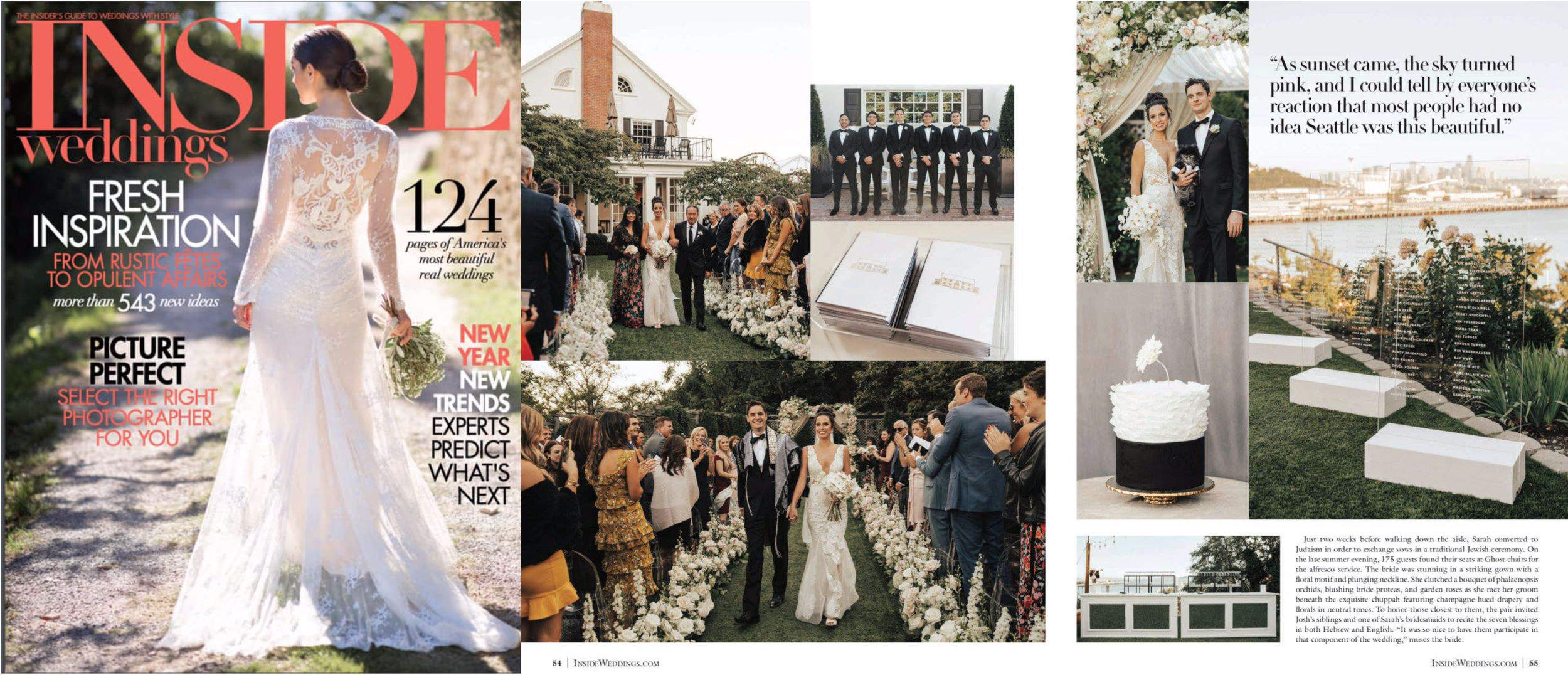 "Inside Weddings, Spring 2019 (""Real Wedding"" feature)"