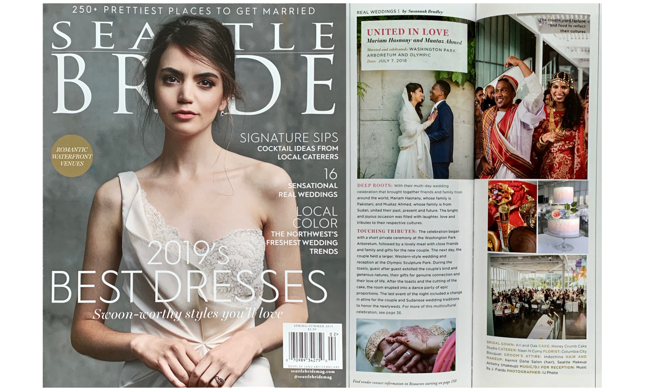 "Seattle Bride, Spring-Summer 2019 (""Real Wedding"" feature)"
