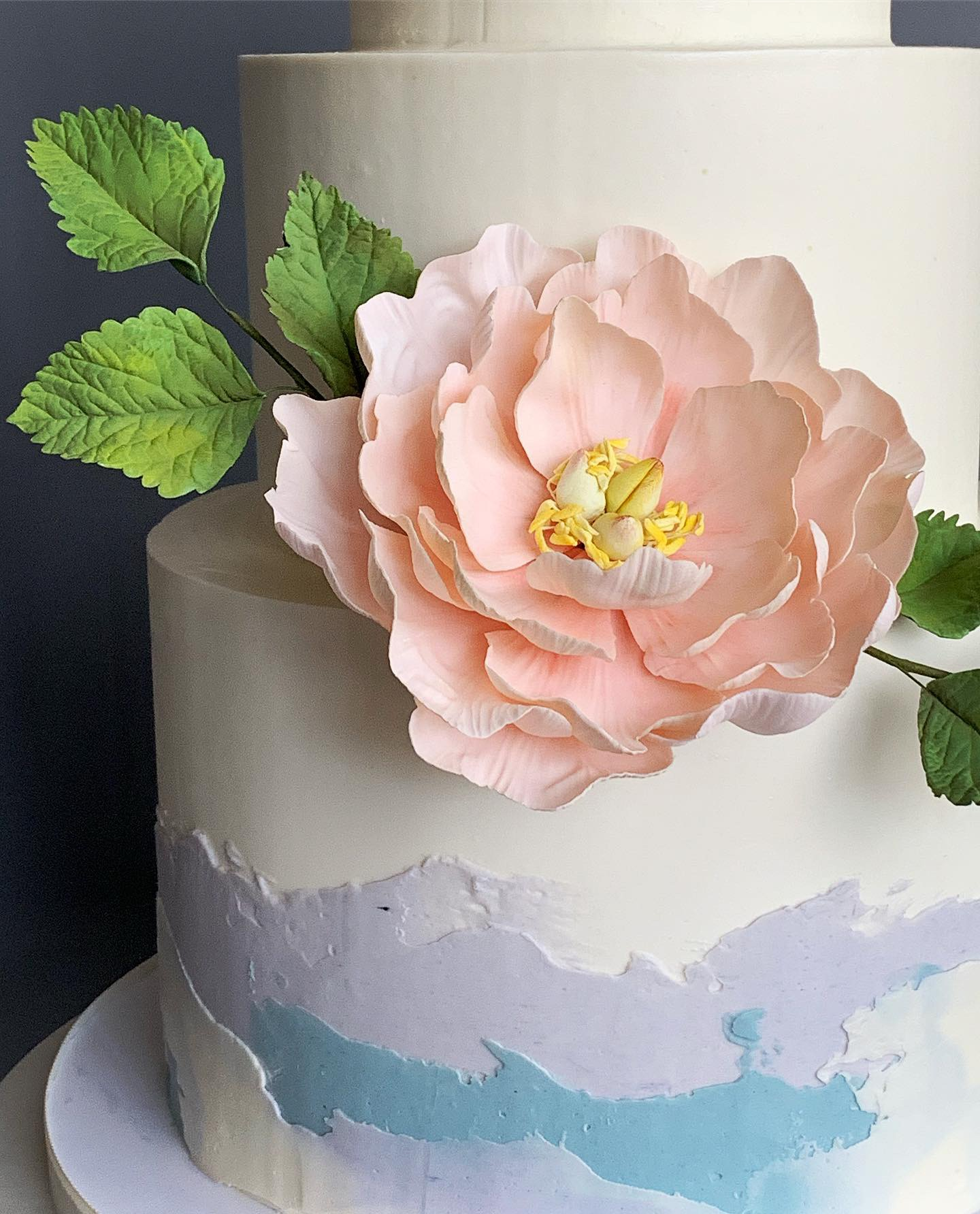 Sugar peony with sugar rose leaves. Image copyright Carla Schier.
