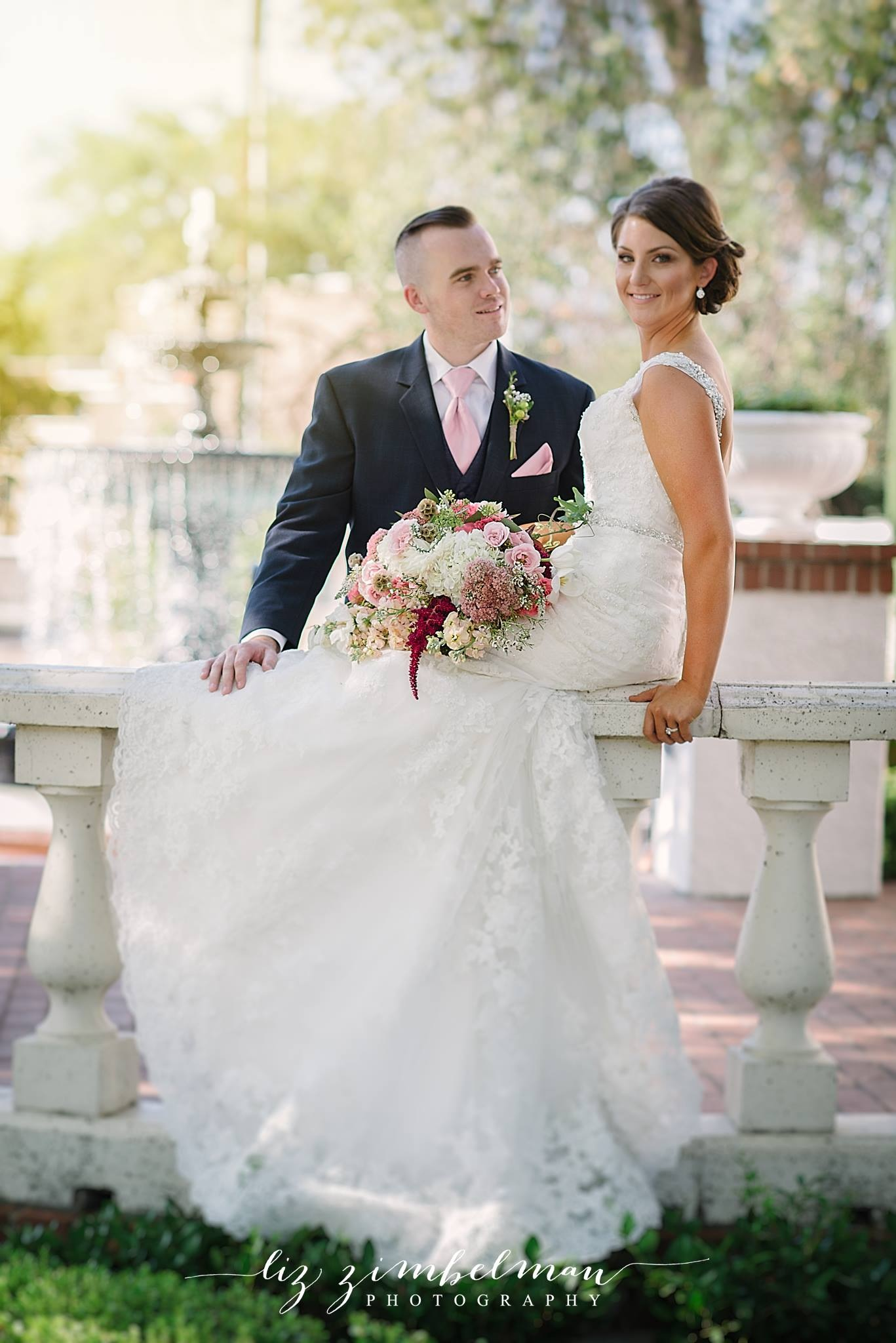 We provided the floral designs for this beautiful photo shoot at Vizcaya Sacramento. Photo courtesy of Liz Zimbleman Photography. Aren't these two dreamy?