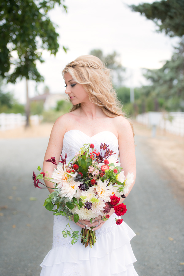 And this bouquet with the beautiful Brooke for a fall photo shoot with Crystal Lynn Photography, Danielle Lucas Hair, and Brooke Anderson modeling. Photo courtesy of Crystal Lynn Photography.