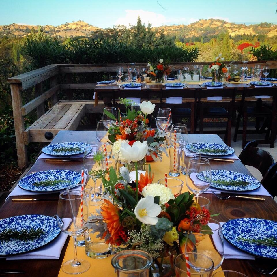 Then we took our hand in event planning & coordination, decor & staging, and full floral design for this one-of-a-kind event which included Olympic Games! Delicious catering by The Organic Countertop and furniture/tabletop rentals from Wine Country Rentals. Photo Courtesy of Alison Pfaff
