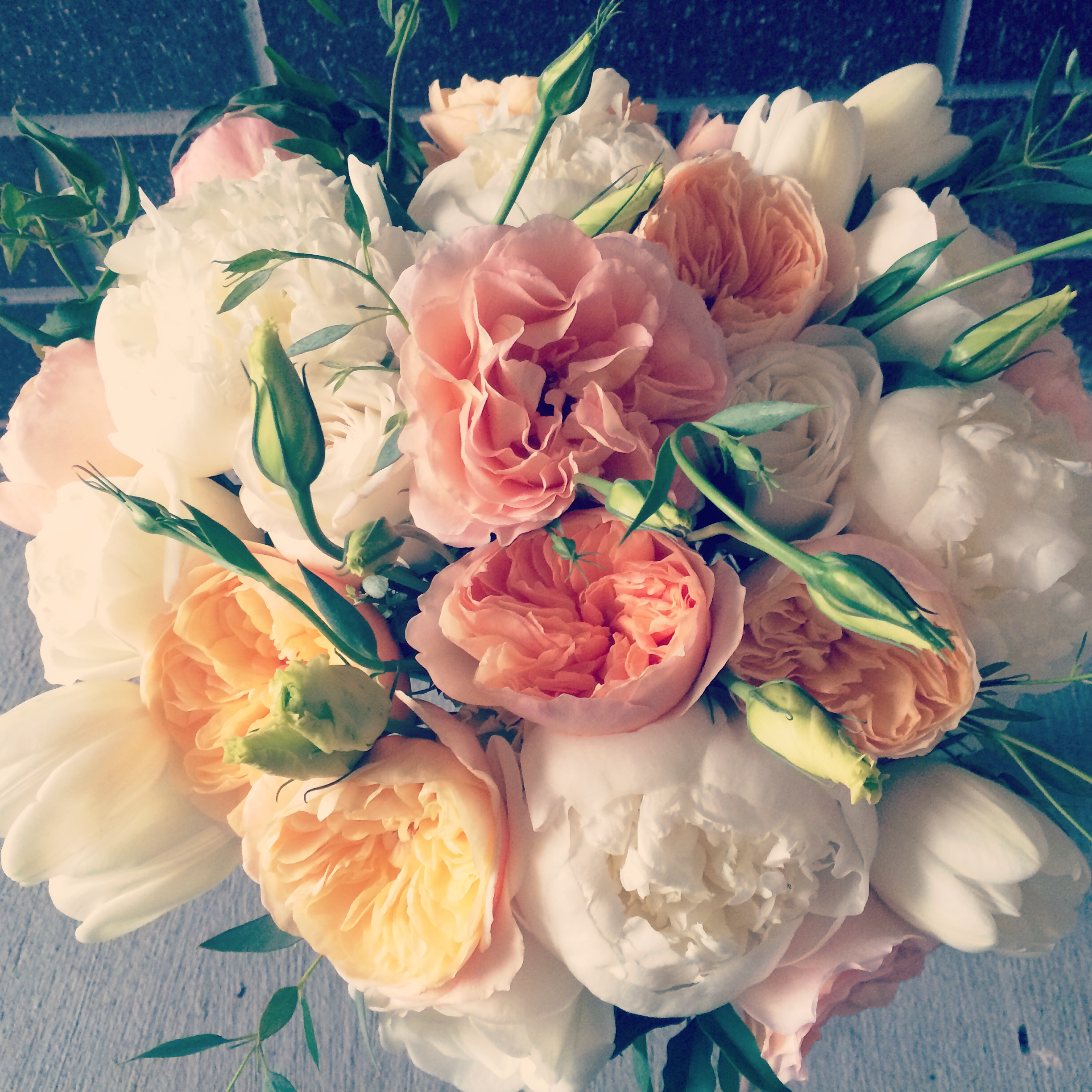 And then it FINALLY rained the day we made this fluffy bridal bouquet.