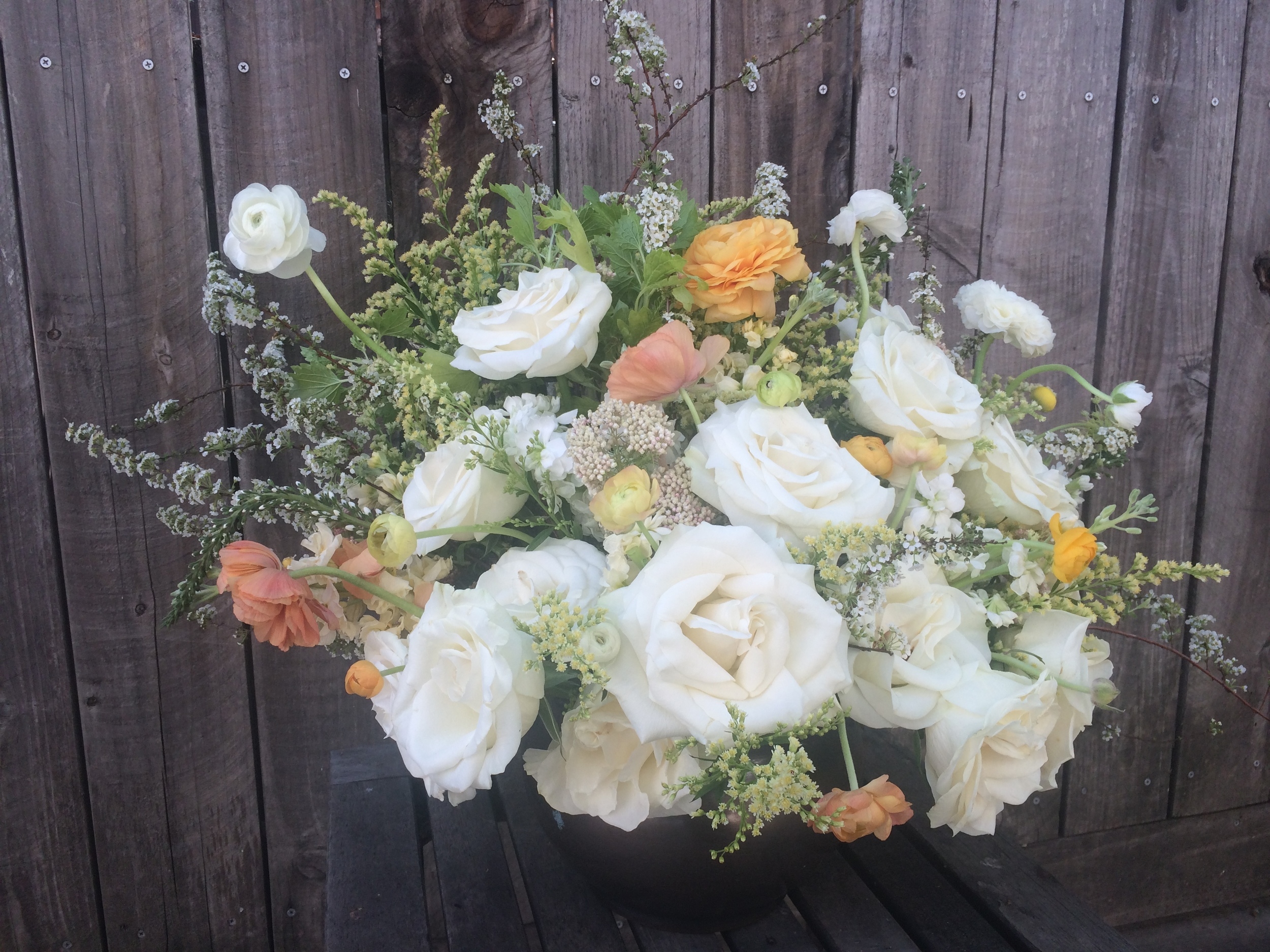 Soft pastels and billowy roses in this English garden themed bridal bouquet.  Event: Private Vow Exchange, Fairfield, CA
