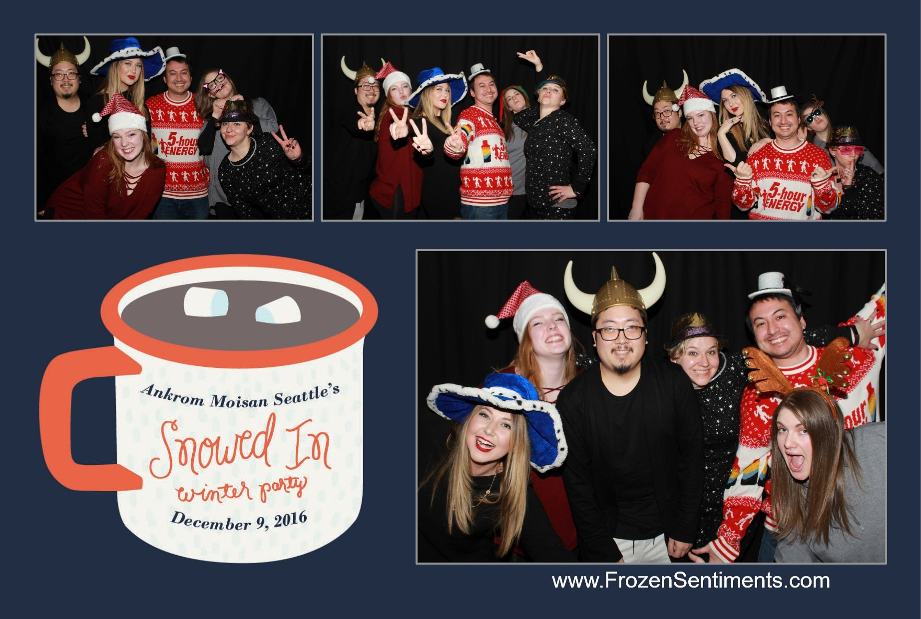 - there was a photo booth equipped with all sorts of props and branded with our cozy mug