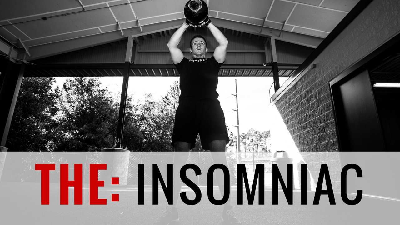 THE INSOMNIAC (OLYMPIC POWER)   7-Week Program | 51 Total Training Days | 52 Athlete Brief Videos | Goal: Decrease Rest Times during Workouts; Olympic Lifting     Once a week we will do a workout where we only time how much we rest. So if you were doing a workout of 21-15-9 of bench press and pull-ups, your time of completion is irrelevant during rest timing WODs. The time we will track is how much you rest. More than that we have, Combined Power Lifting and Olympic Lifting. Weekly rest-timing WOD. We will Increase Strength, Decrease rest times in WODs, and Increase intensity.