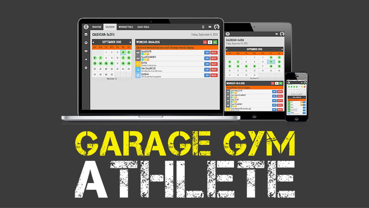 "GARAGE GYM ATHLETE DAILY TRAINING, TRACKING, AND COMMUNITY.   5-Days Per Week Programming | Teambuildr Online Training Portal Access | Workout Tracking | Block Programming (to maximize your time)     Our online training portal and tracking system provides you with 5 workouts per week and two rest days. The programming provided each week is done in blocks, so you can maximize your time, track your progress and watch your results skyrocket. Make no mistake, joining Garage Gym Athlete is hiring a full-time programmer who spends hours each week making new and effective workouts for you! If you ever have a question or need some help we have coaches checking the ""team feed"" each day to make sure you are taken care of.     This is typically where other daily training sites end it. But we go one step further and provide you with short-term goal-based programs to further your training, when you need it...More on that below!"