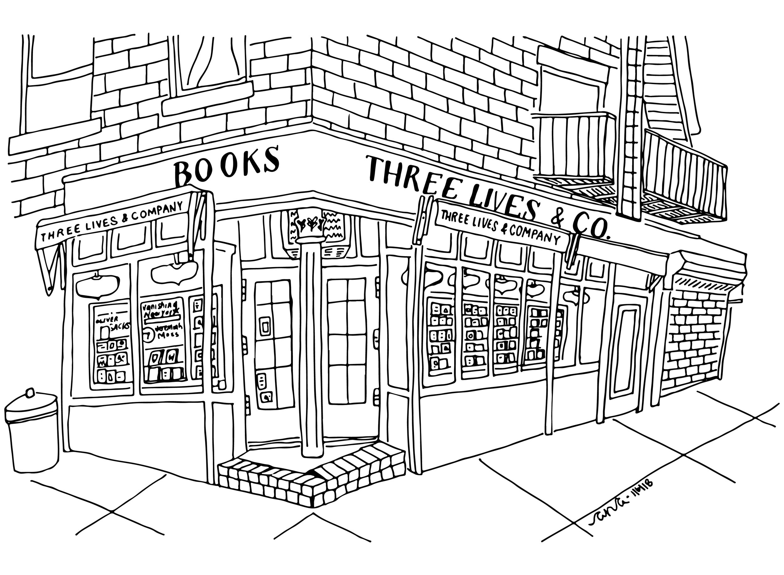 Three Lives and Co Bookstore The Spots Ana Handmade